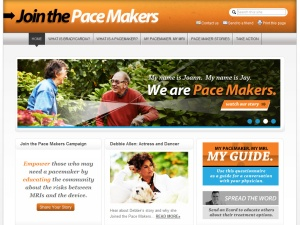 Screenshot of 'Join the Pace Makers' campaign for Medtronic.