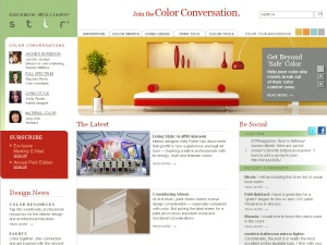 Screenshot of Sherwin-Williams online magazine, STIR.