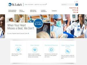 Screenshot of St. Luke's homepage.